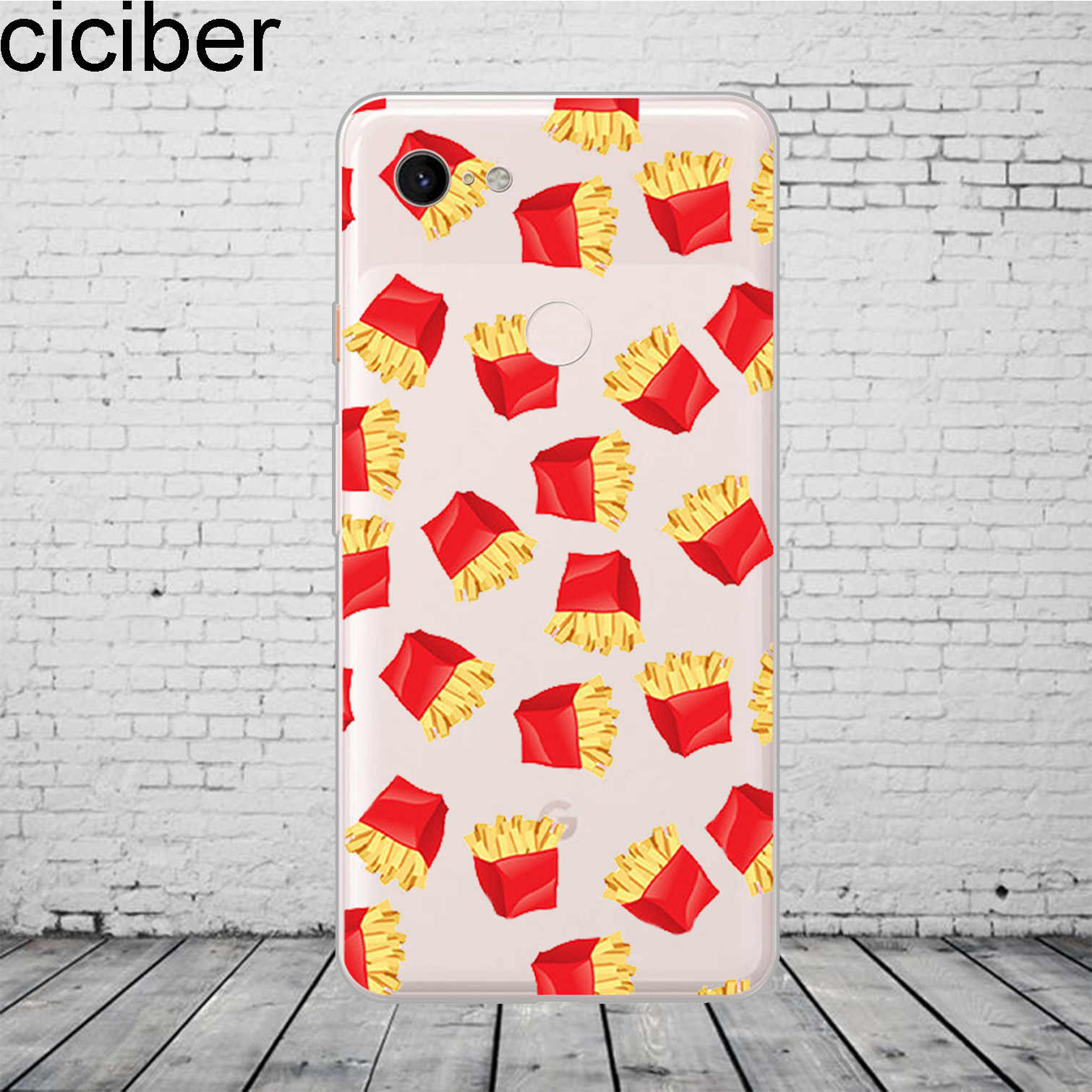 Ciciber Nourriture Frites Cola Burger Modele Coque De Telephone Pour Google Pixel 3 2 Xl Couverture En Silicone Souple Pour Pixel 3xl 2xl Coque Funda Capa Aliexpress