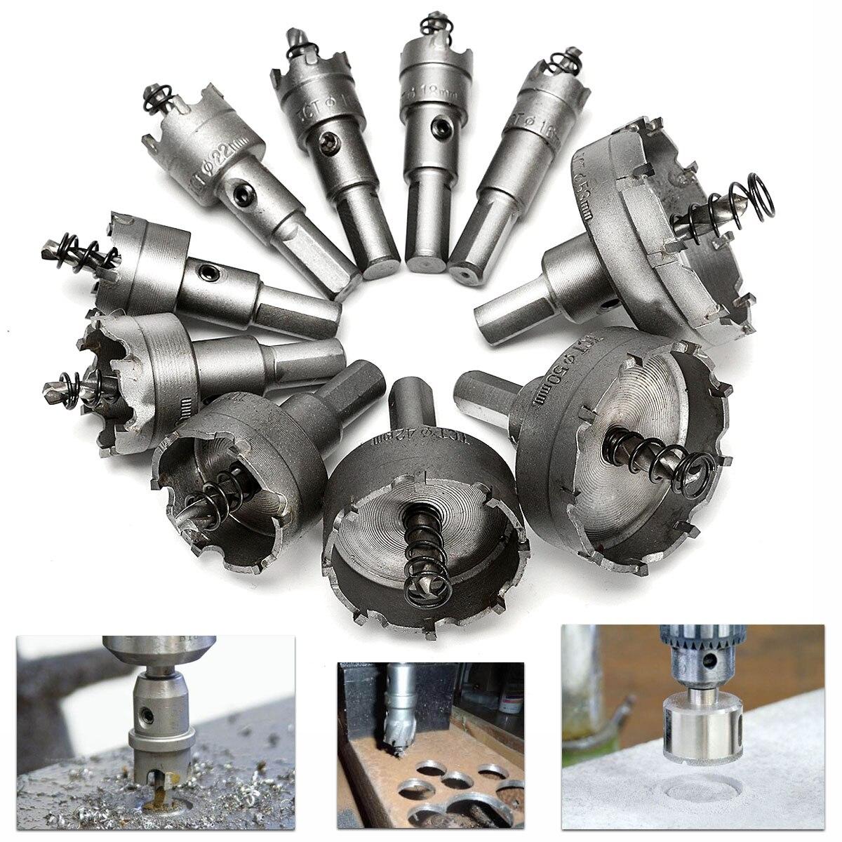 1Pcs Carbide Tip HSS Drill Bit Saw Set Metal Wood Drilling Hole Cut Tool For Installing Locks 16/17/19/20/21/22/23/25/28/32/50mm