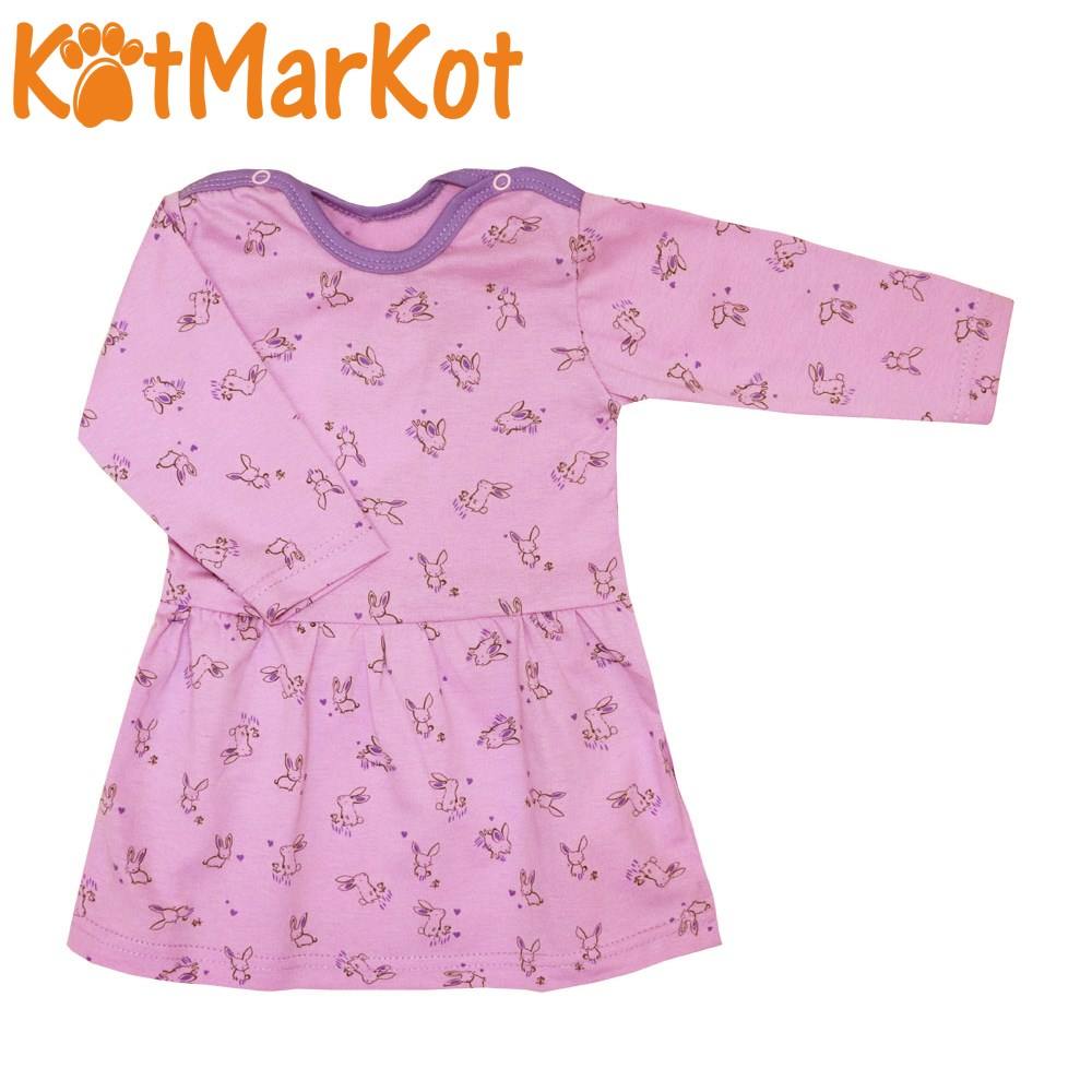 Dress (tunic) For Girls, Котмаркот, Lavender поляна, Cotton, 2000212