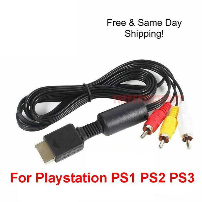 1 шт. игровая станция PS1 PS2 PS3 AV Аудио Видео кабель OEM 6 футов RCA A/V 6Z продавец композитный AV-кабель для игровой площадки
