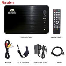 Mini lecteur multimédia multimédia Full HD lecteur multimédia externe USB avec chargeur de voiture HD VGA AV pour disque SD U MKV RMVB
