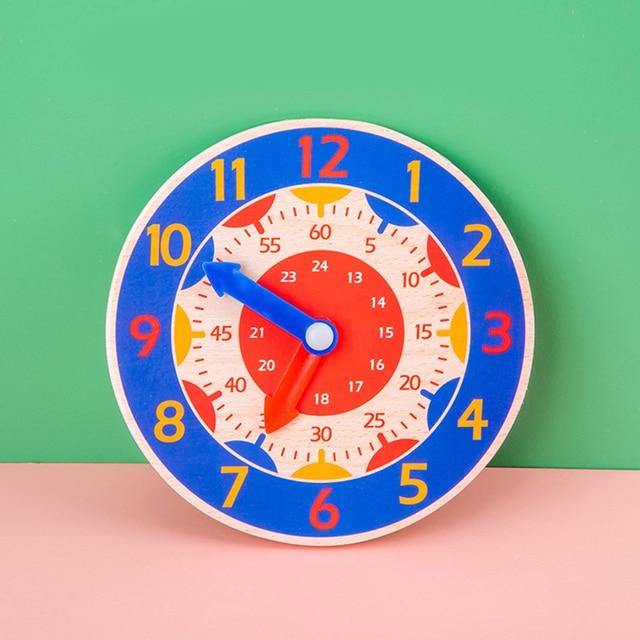 Wooden Puzzles Clock Montessori Toys Little Clocks Calendar Toy 3