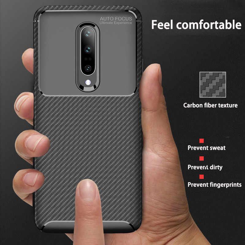 Las nuevas fundas traseras de teléfono de fibra de carbono para OnePlus 7 Pro 6 6T funda cubierta One Plus 7 Pro 6 fundas protectoras de silicona suave 6T