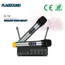 S 10 Free Shipping UHF Bluetooth Wireless microphone System Mini Portable Receiver for Home Theater Audio DVD Hi Fi systems