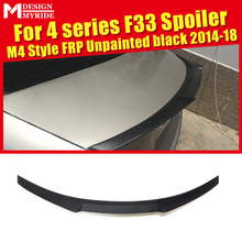F33 Spoiler Wing FRP Unpainted High Kick M4 Style For BMW 4-Series Coupe Convertible 420i 428i 430i 435i Trunk 2014-2018