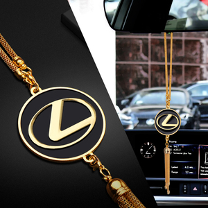 Car-styling emblem metal Alloy Auto Interior Decoration Pendant Car Rearview Mirror Hanging Ornaments For Lexus Accessories
