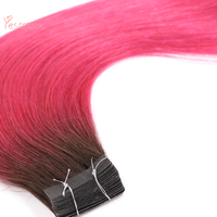 Yesowo Ombre Remy Human Hair 10PCS 20PCS 40PCS Silky Straight 2.5g/piece Peruvian Hair Tape Extensions