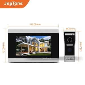 Image 3 - Jeatone visiophone avec écran tactile de 7 pouces, wi fi IP, interphone vidéo pour 4 appartements séparés, compatible télécommande par téléphone