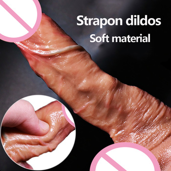 New Female Masturbation Realistic Dildo Sex Toys For Adult Men Women Gay Silicone Cock Penis Sex Products Anal Vagina Massager new female masturbation realistic dildo sex toys for adult men women gay silicone cock penis sex products anal vagina massager