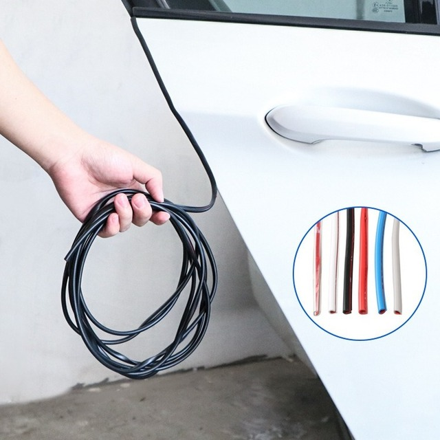 5M Auto Anti Kollision Auto Tür Kollision Vermeidung Stick Gummi Streifen Dekoration Aufkleber Auto Zubehör Auto Tür Protector