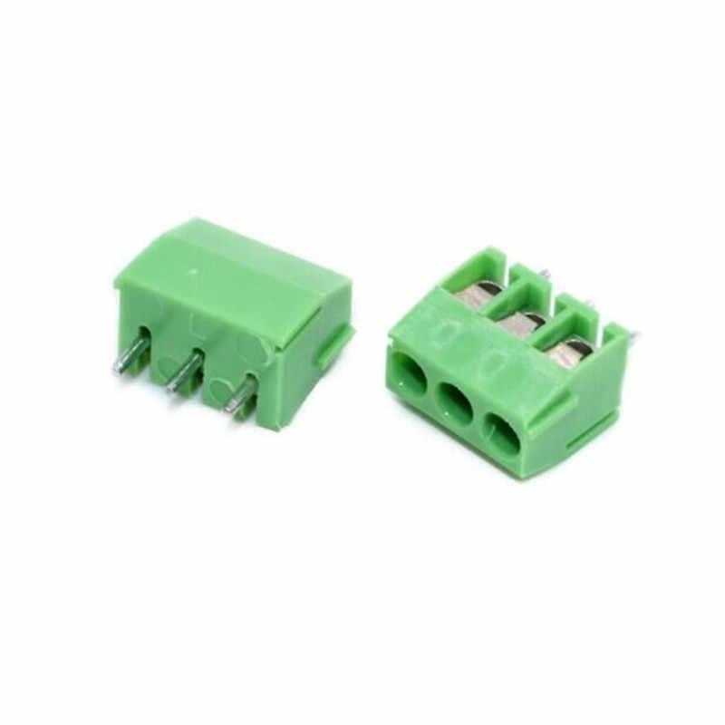 50 шт. 3,5 мм шаг винтовой клеммный разъем 2 Pin 3 Pin прямая нога KF350 медь зеленый PCB клеммные блоки
