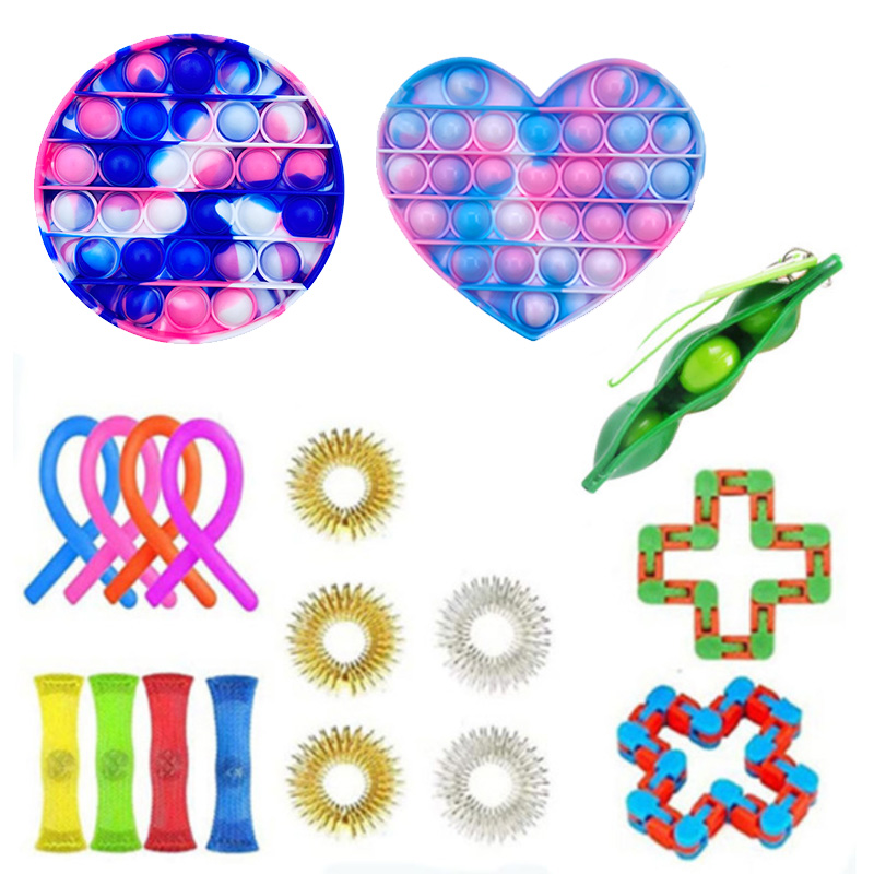 Figet-Toys Anti-Stress-Set Pop-It Gift-Pack Relief Stretchy-Strings Sensory Squishy Adults img3
