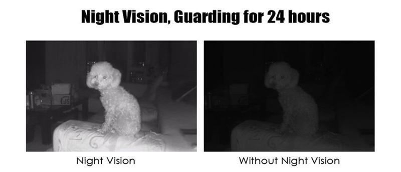 detecção movimento visão noturna filtro ir 4x zoom