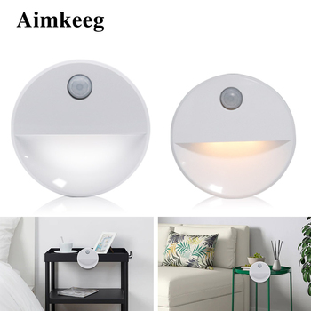 LED night light PIR infrared motion activated induction light wireless sensor light for wall lamp cabinet stair light