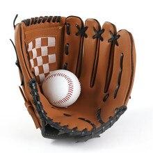 Esportes ao ar livre luva de beisebol softball prática equipamento tamanho 9.5/10.5/11.5/12.5 mão esquerda para adulto homem mulher formação