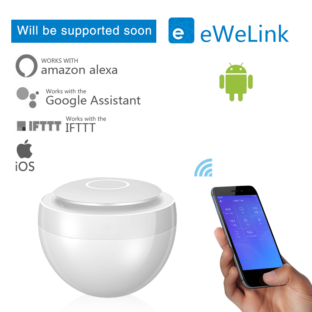 Ewelink Smart Home Universal Function Smart Remote Control IR Control Center Intelligent Mini WIFI+360 Degree IR Coverage Switch