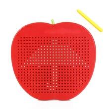 Магнитная пластиковая доска для рисования, милая, легко переносится, обучающая игрушка, доска для письма на Рождество, детский подарок на день рождения