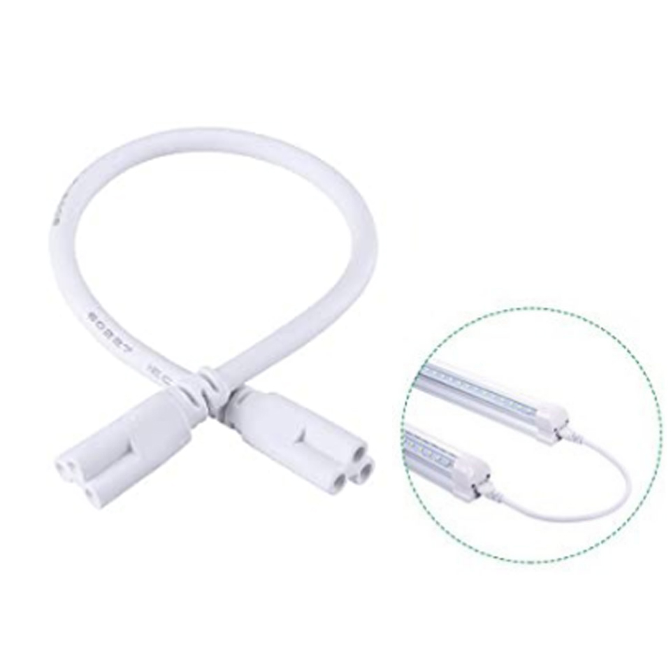 1ft 2ft 3ft 5ft Cable for Integrated T8 T5 led tubes lights electrical wire Connector for led extension cord Double End image