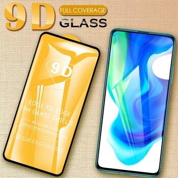 Перейти на Алиэкспресс и купить 9D Защитная стеклянная пленка, полное покрытие, защита экрана, закаленное стекло для xiaomi mi Pocophone F1 Poco Phone X2 F2 Pro