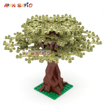 DIY Building Blocks Garden Plants Tree 7Color Educational Creative Figures Bricks Size Compatible With Brands Toys for Children 1000pcs building blocks city diy creative bricks bulk model figures educational kids toys bricks assembly compatible all brands