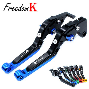Levers For NIU N1 N1S M1 U1 M+ NGT Motorcycle Accessories CNC Adjustable Folding Extendable Brake Clutch Lever With logo