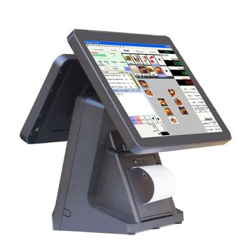 Cheap price 15 inch Pos System All-In-One Touch Pos Terminal all in one pos with reciept printer