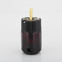 2 قطعة الذهب مطلي Schuko التوصيل P079E الاتحاد الأوروبي النسخة الطاقة المقابس ل قوة الصوت كابل