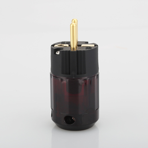 Image 1 - 2pieces gold plated  Schuko plug P079E EU version power plugs for audio power cable