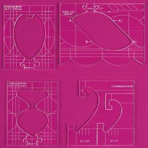 Image 2 - Neue herrscher grenze sampler vorlage set für nähen maschine können schaffen schöne grenzen 1 set = 4 stücke # RL 04W
