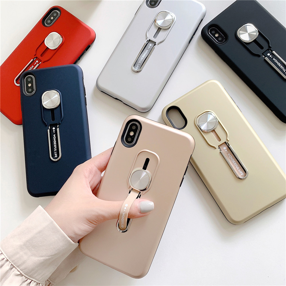 Luxury Magnetic <font><b>Ring</b></font> Holder Phone <font><b>Case</b></font> For <font><b>iphone</b></font> 11 pro max Xs max XR X <font><b>8</b></font> 7 6s <font><b>Plus</b></font> Silicone Finger <font><b>Ring</b></font> Car Holder Stand cover image