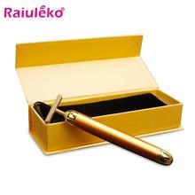 24k ouro facial enrugamento lift bar equipamento da beleza vibração massageador de rolo facial vibração barra de energia