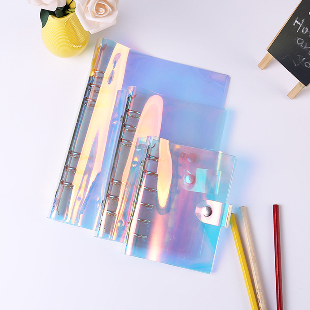 6 Holes PVC Binder Folder A5 A6 A7 File Cover For Journal Note Book Diary Notepad Planner Agenda School Office Supplies image