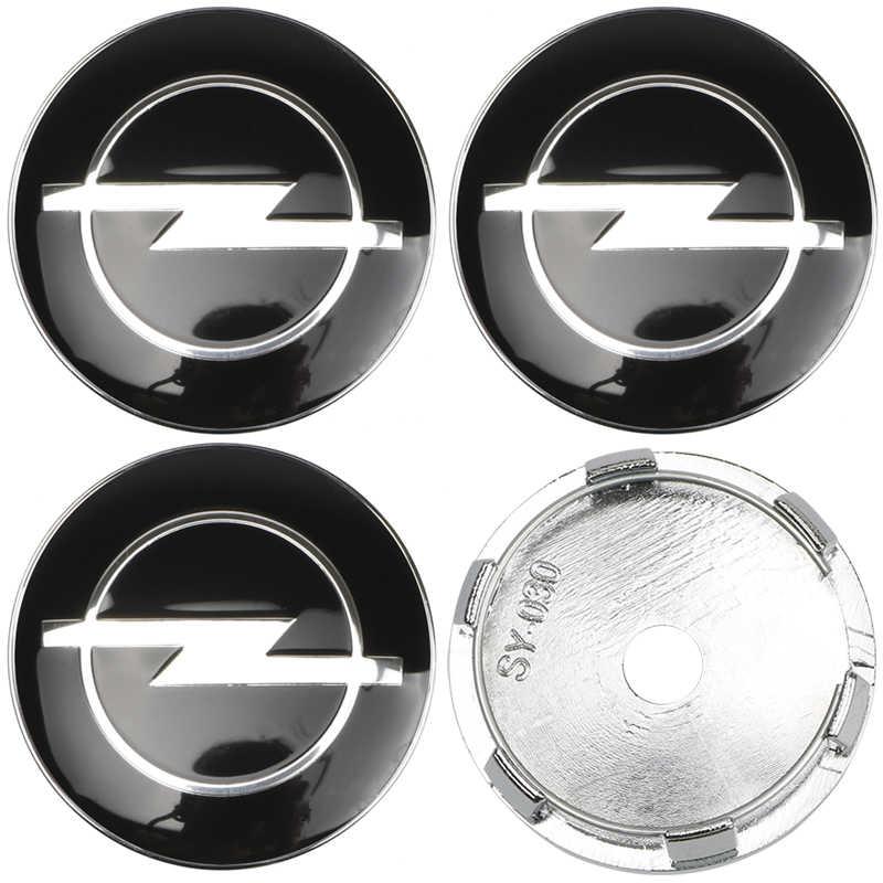 4 pièces 60mm Capuchons De Moyeu de Roue Logo D'insigne de Voiture Capuchon de Roue Pour Opel Astra H G J Insignes Mokka Zafira Corsa Vectra C