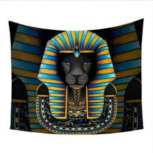 Sphinx Bedspread Lion Mysterious Wall Carpet Yellow(China)
