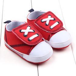 Повседневная обувь для маленьких мальчиков и девочек милые младенцы Новорождённые хлопковая холщевая ткань с перекрестной шнуровкой