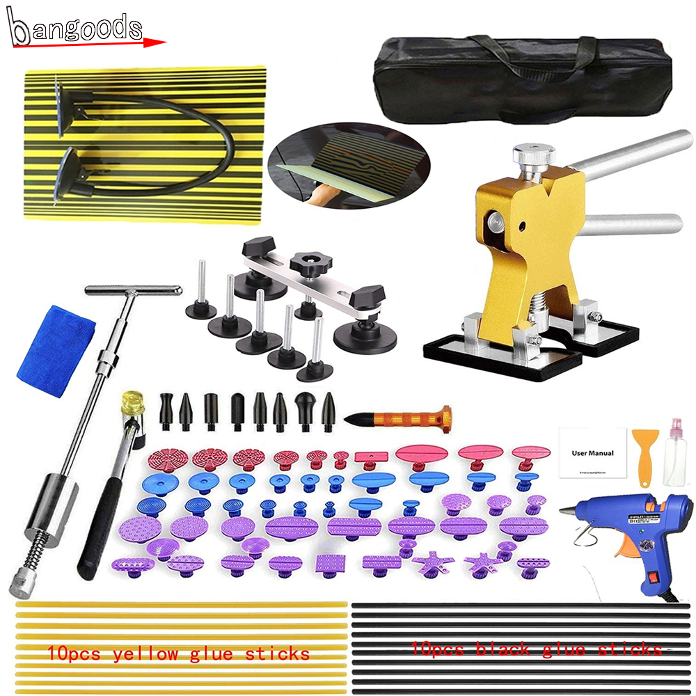 94PCS/96PCS US/EU/UK/Car Charger Plug Paintless Dent Repair Tool Dent Removal Tool Kit