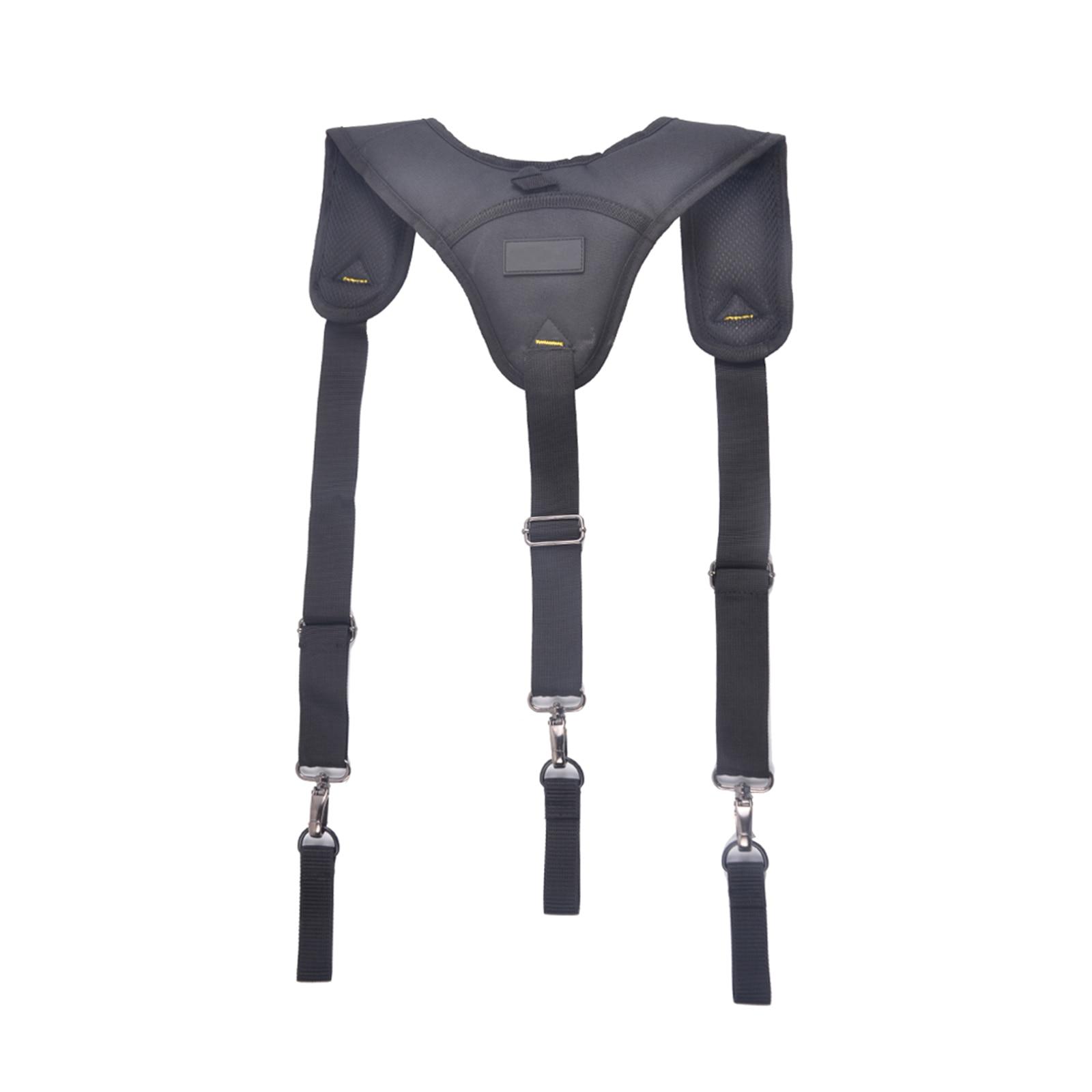 Black Suspenders Y Type Fishing Tooling Suspender Can Hang Tool Bag Reducing Weight Strap Heavy Work Tool Belt Suspenders