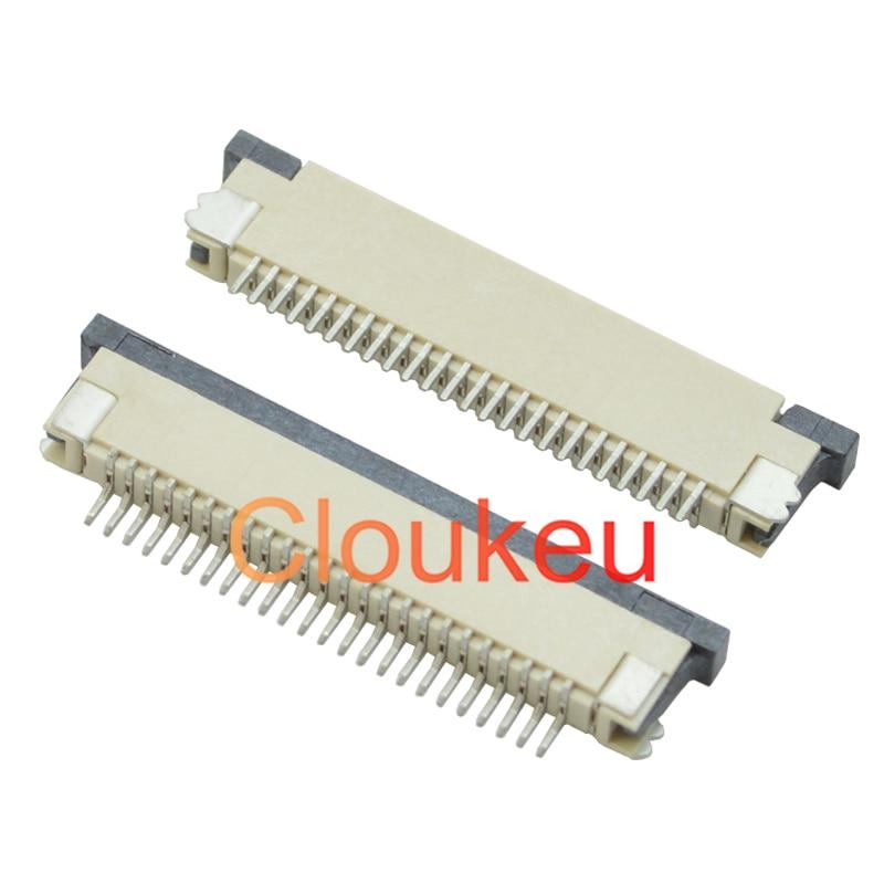 Коннектор FPC 0,8-6P/9/10/12/14/16/20/22/24/26/30Pin, тип выдвижного ящика, нижнее соединение