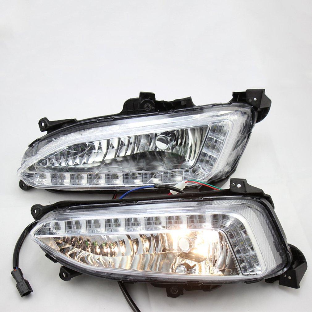 2Pcs LED DRL Daytime Running Light Fog Lamp For Hyundai IX45 For Santa Fe Durable Daytime Light Lamp