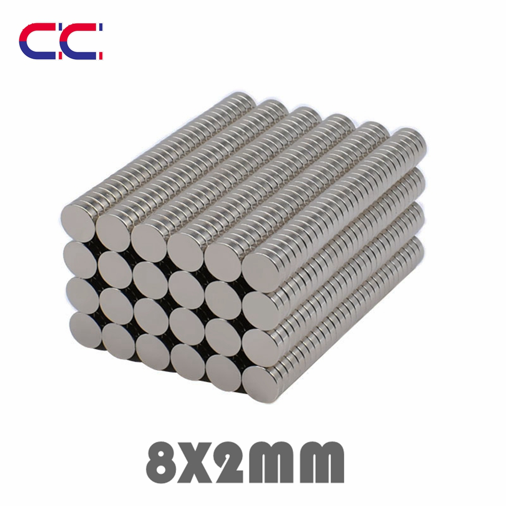 50/100/300pcs 8x2 mm Neodymium Magnet Strong Round Magnets N35 Disc 8*2 Search Rare Earth For Crafts 8mmx2mm