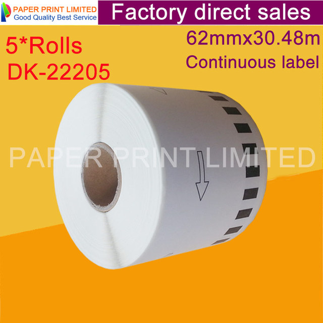 5x ロールスブラザー互換ラベルのバーコードステッカー dk22205 dk 22205 dk 22205 ホワイトレーベル