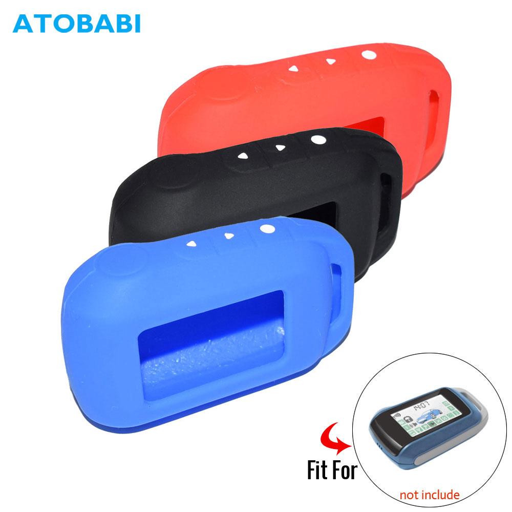 T94 ATOBABI 6 A94 Cor Chaveiro Silicone Case para Russa Alarme de carro Starline A92 A62 A64 A95 LCD Arranque Remoto transmissor