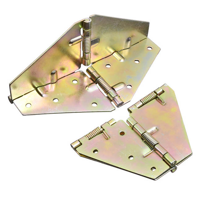 180 /° Bisagra de mariposa con mesa redonda de metal bisagra de resorte con solapa para mesa de comedor bisagra plegable de mesa retr/áctil y plegable 2 piezas