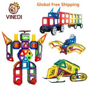 Image 1 - VINEDI Big Size Magnetic Designer Construction Set Model & Building Toy Magnets Magnetic Blocks Educational Toys For Children