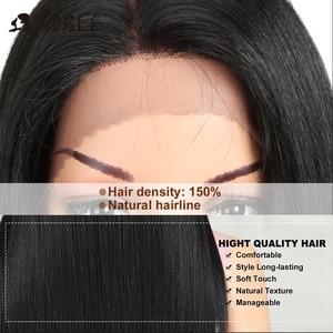 Image 5 - 高貴なヘア合成かつら高温 22 インチ 3 色ロングストレートウィッグ女性合成かつら送料無料