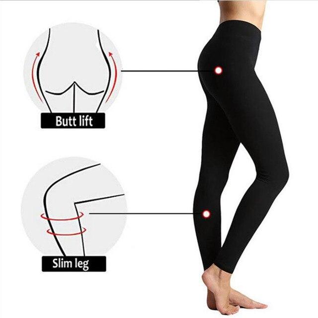 Autumn And Winter Warm Pants Hot Selling High Waist Legging Plain Salad Women Pants Women Winter Leggings 4