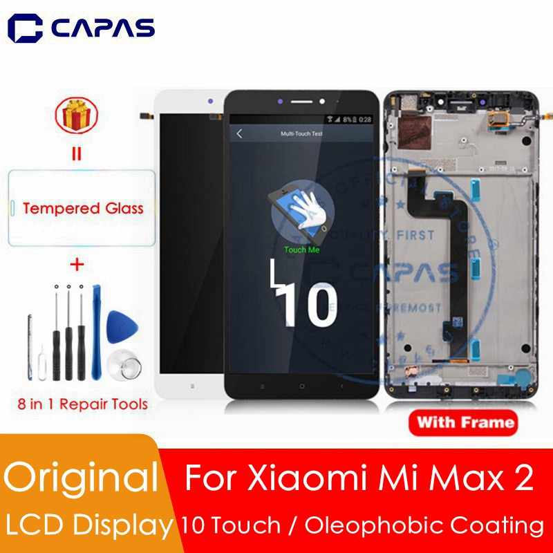 Original For Xiaomi Mi Max 2 LCD Display Touch Screen Digitizer Assembly + Frame For Mi Max2 Repair Spare Parts 10 Point Touch