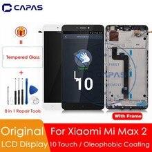 מקורי עבור שיאו mi mi מקסימום 2 LCD תצוגת מסך מגע Digitizer עצרת + מסגרת עבור mi Max2 תיקון חילוף חלקי 10 נקודת מגע