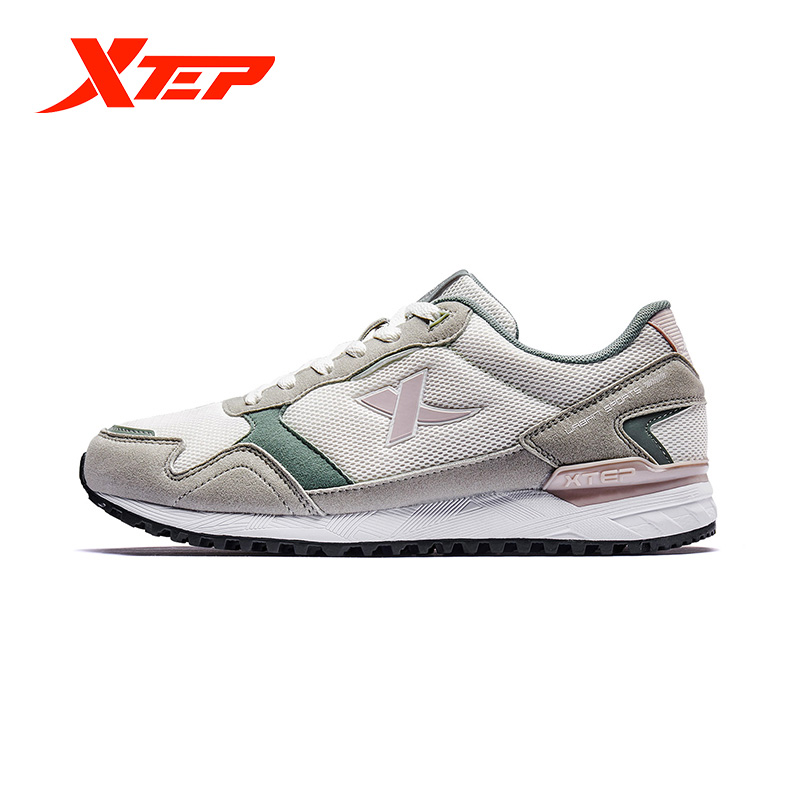 Xtep Women's Casual Sport Shoes Winter New Lightweight Non-slip Comfortable Couple Leisure Walking Shoes 881418329663