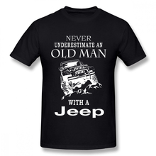 Man Old Man With A Jeep T Shirt S-5XL Short Sleeve 100% Cotton T shirt  3D Print T shirt Car Tees свитшот print bar old man fear